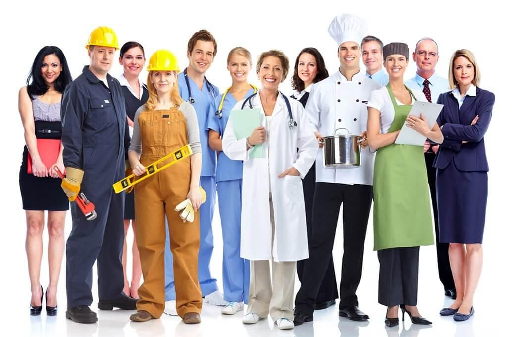 zdjęcie przedstawiające pracowników różnych branż